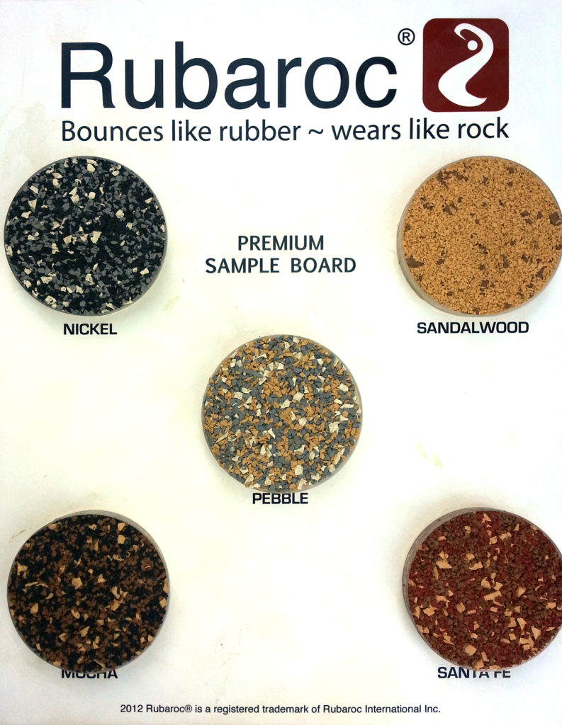 Rubaroc sample board