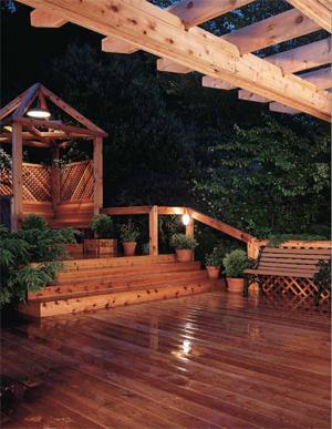 real cedar deck