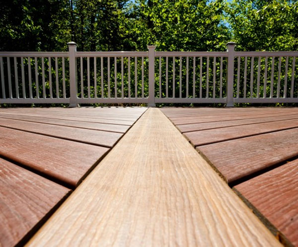wolf capped composite decking